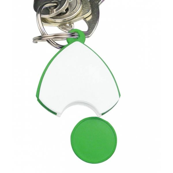 Keyring with a 'coin'