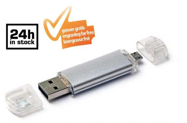 Plastic-metal USB