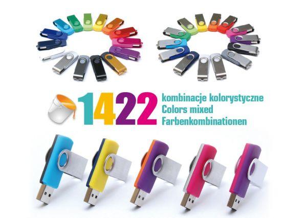Plastic-metal USB