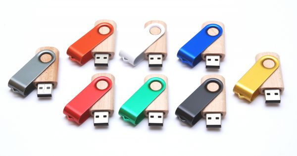 Wooden-metal USB