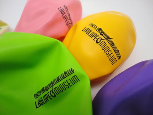 Õhupallid ühevärvilise trükiga