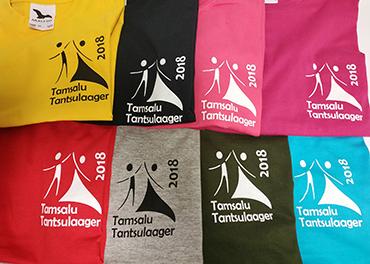 T-särk Tamsalu tantsulaager logoga