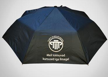 Kokkupandav vihmavari trükiga
