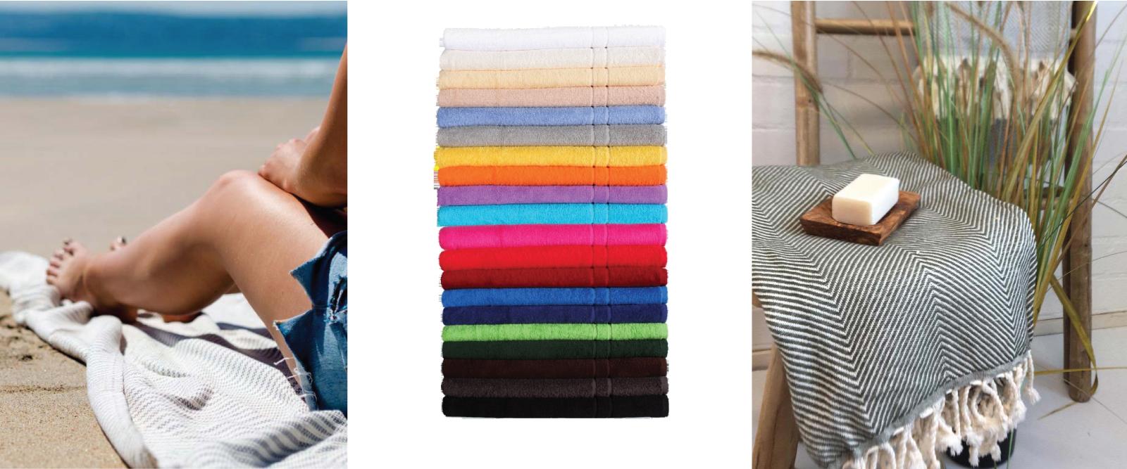 Sissekootud logoga saunalina, hammam-rätik, mikrofiiberrätik